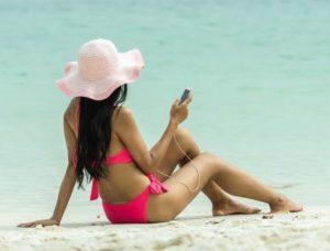 szybkie opalanie na plaży