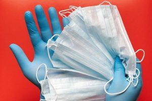Rękawiczki i maski jednorazowe
